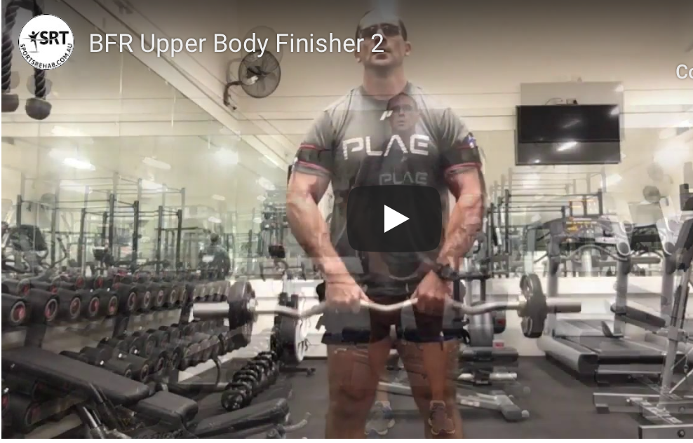 BFR Blood Flow Restriction - Upper body strength training finisher 2