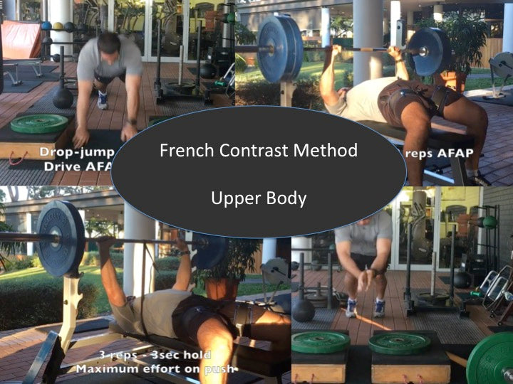 Upper body strength training idea - French Contrast Method (videos)