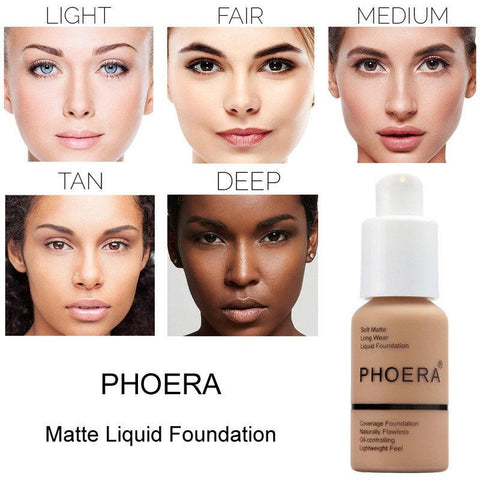 PHOERA Foundation Makeup Matte Foundation Full Coverage