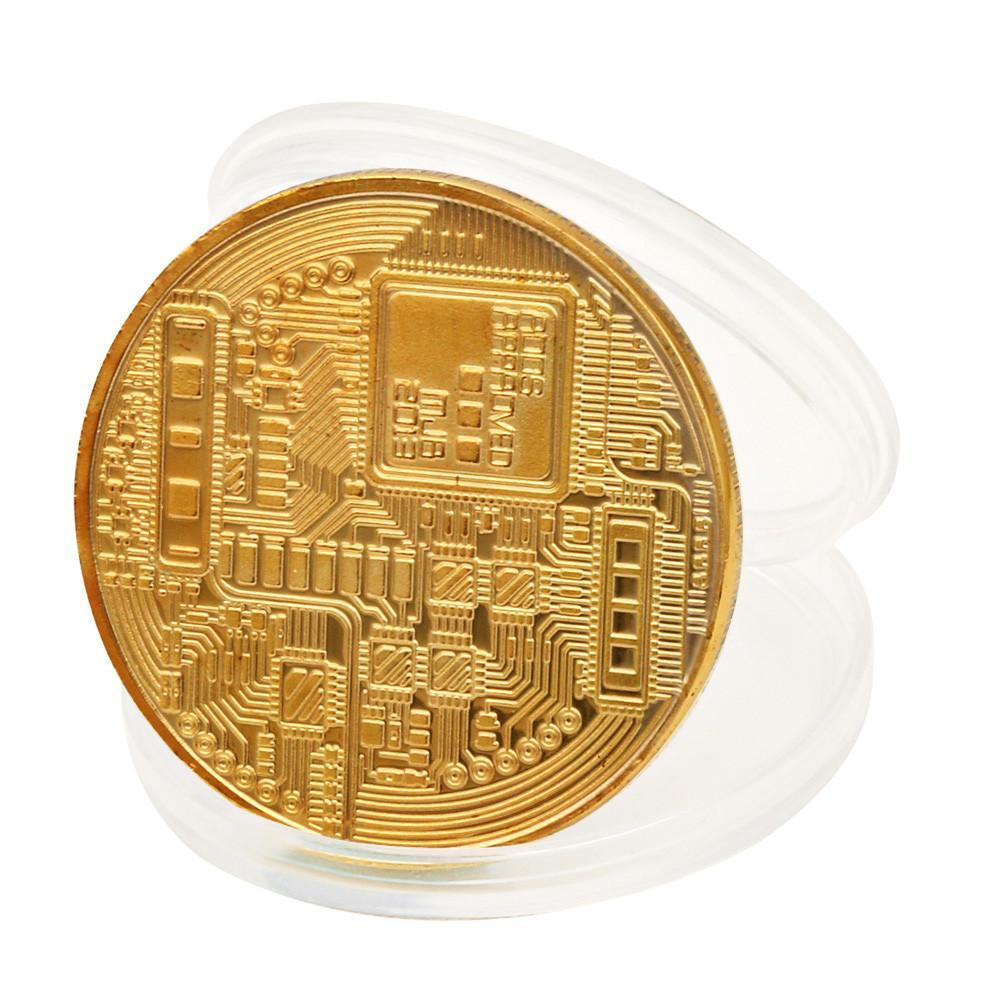 Bitcoin Coin Gold Plated Coins Collector Club 2048