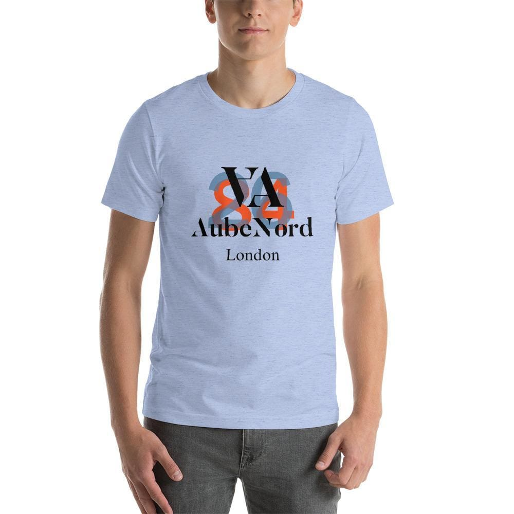 2684 Aubenord Short-Sleeve Mens T-Shirt - Heather Blue / S - Tshirt