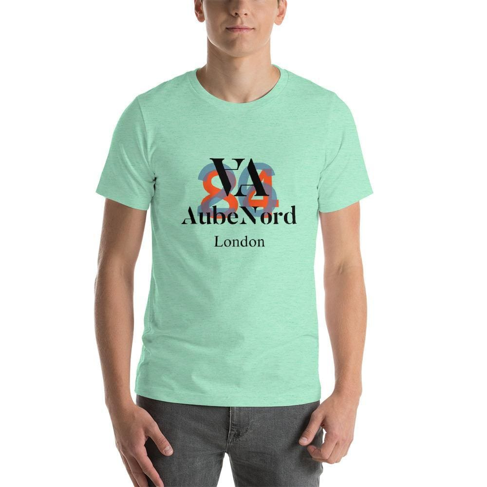 2684 Aubenord Short-Sleeve Mens T-Shirt - Heather Mint / S - Tshirt