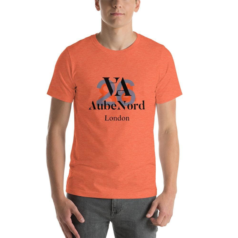 2684 Aubenord Short-Sleeve Mens T-Shirt - Heather Orange / S - Tshirt