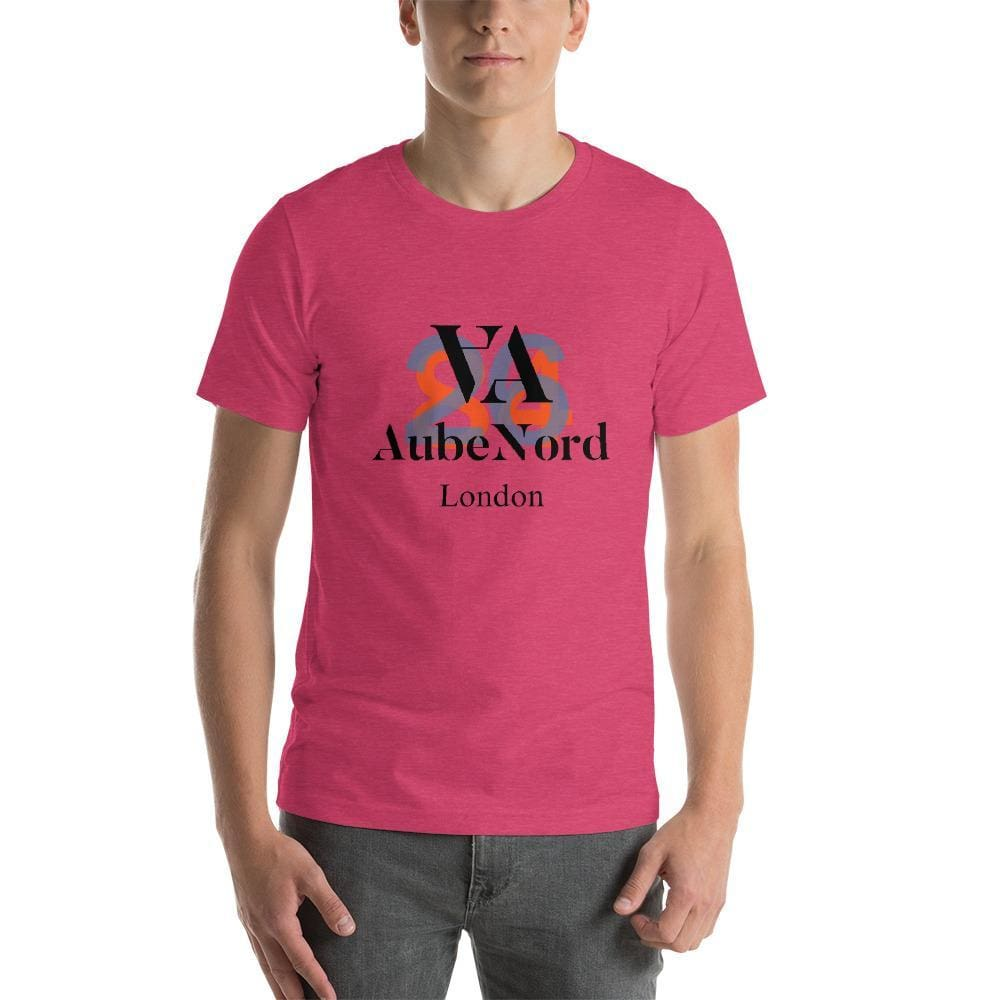 2684 Aubenord Short-Sleeve Mens T-Shirt - Heather Raspberry / S - Tshirt