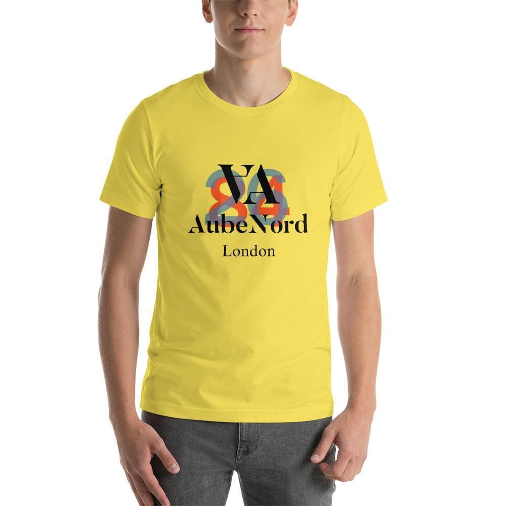2684 Aubenord Short-Sleeve Mens T-Shirt - Yellow / S - Tshirt