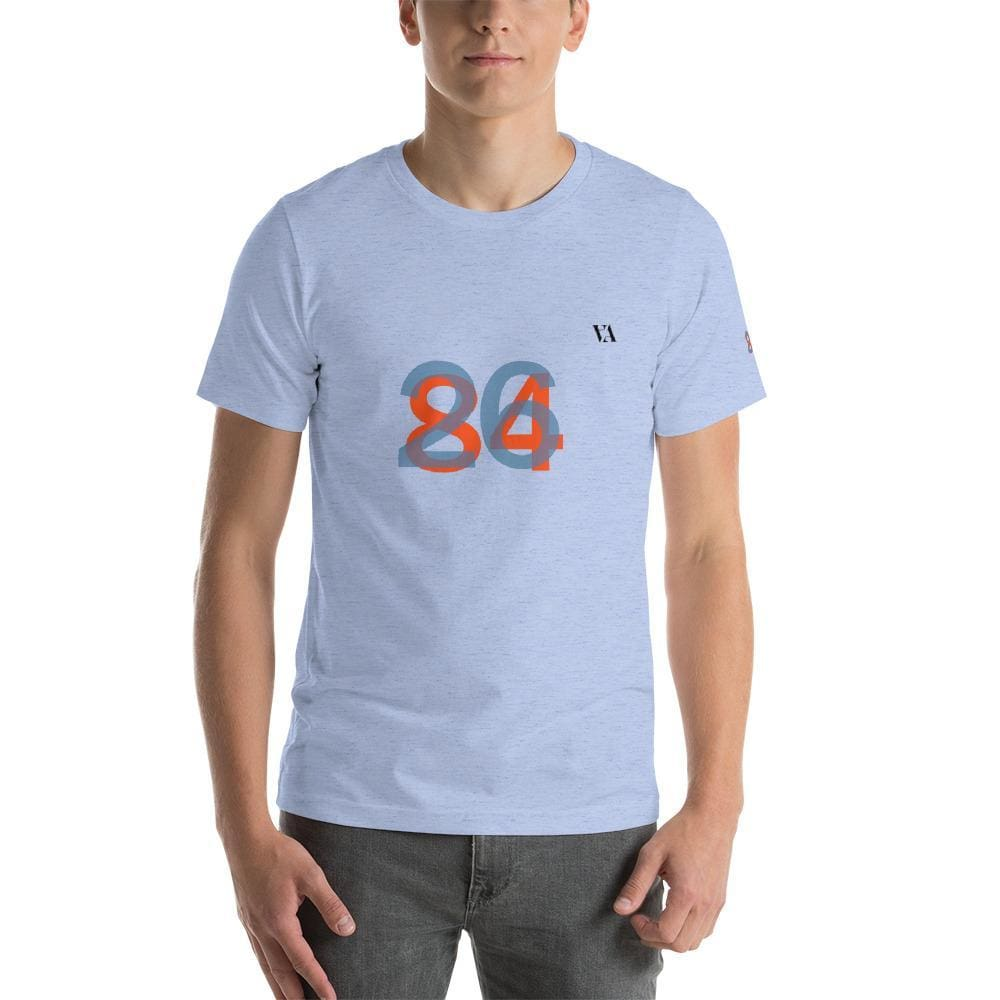 2684 Portobello Short-Sleeve Mens T-Shirt - Heather Blue / S - Tshirt