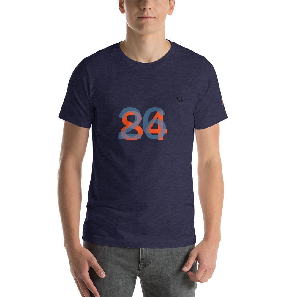 2684 Portobello Short-Sleeve Mens T-Shirt - Heather Midnight Navy / S - Tshirt
