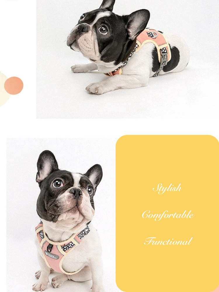French Bulldog Nylon Harness - Product features