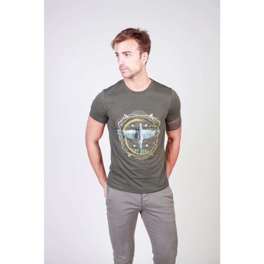 Cavalli Class - B3Jqb70836598_0114_8 - Green / L - Clothing T-Shirts