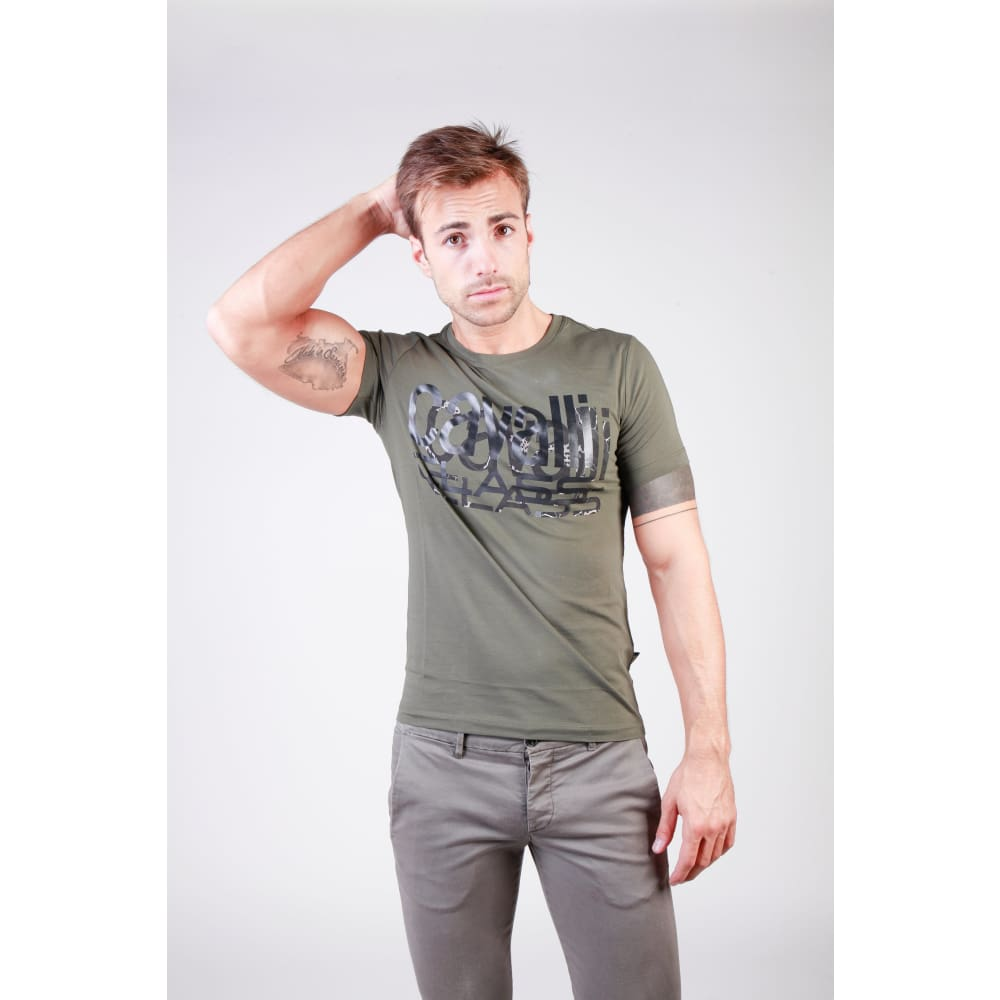 Cavalli Class - B3Jqb71136641_0114_8Bis - Green / Xl - Clothing T-Shirts