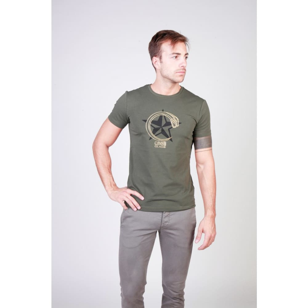Cavalli Class - B3Jqb71697299_0114_22C - Green / Xxl - Clothing T-Shirts