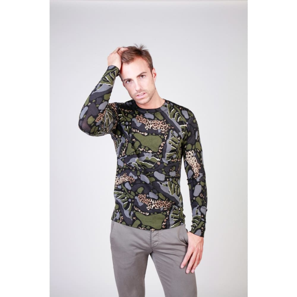 Cavalli Class - B5Jqb80497437_M003 - Green / M - Clothing Sweaters
