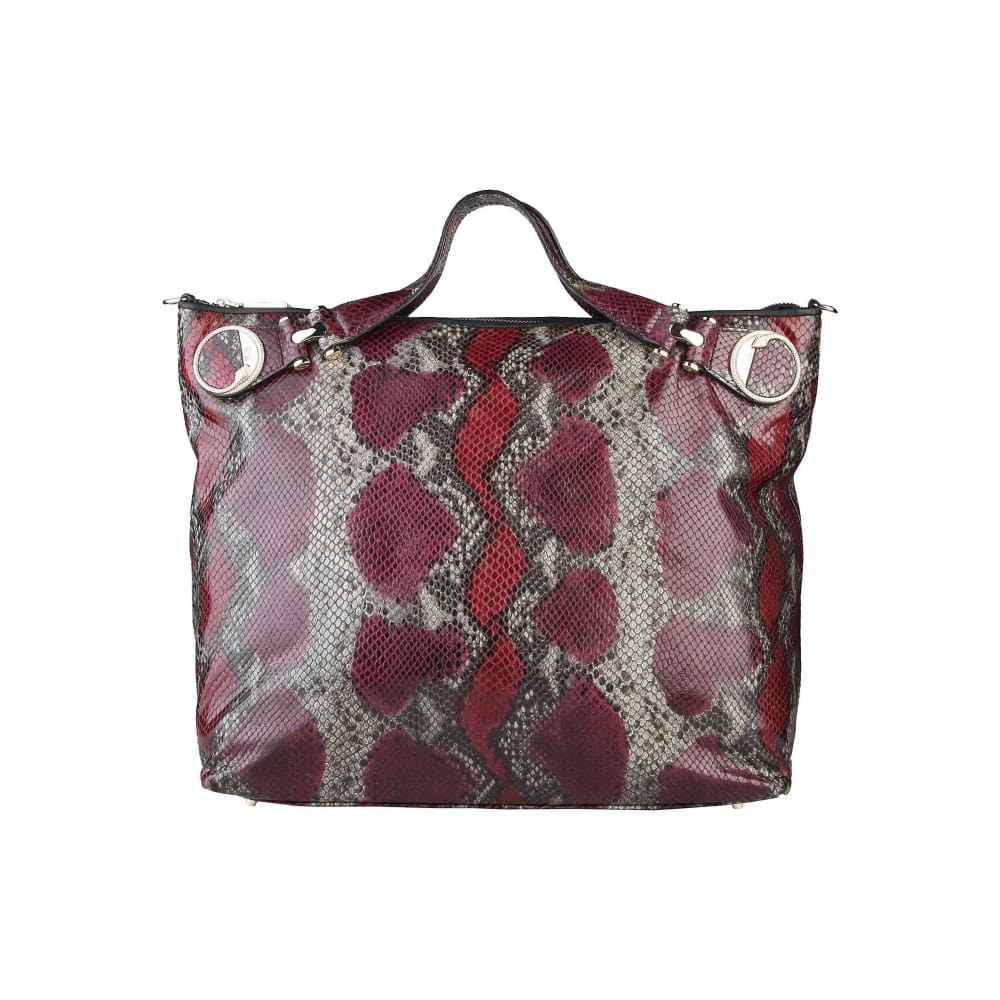 Cavalli Class - Elegant Leather Shopping Bag - Red / Nosize - Bags Shopping Bags