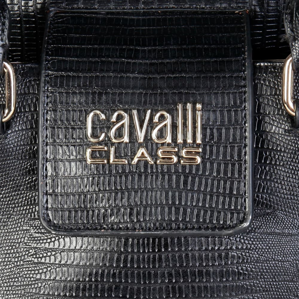 Cavalli Class - Gold Studs Handbag - Bags Shoulder Bags