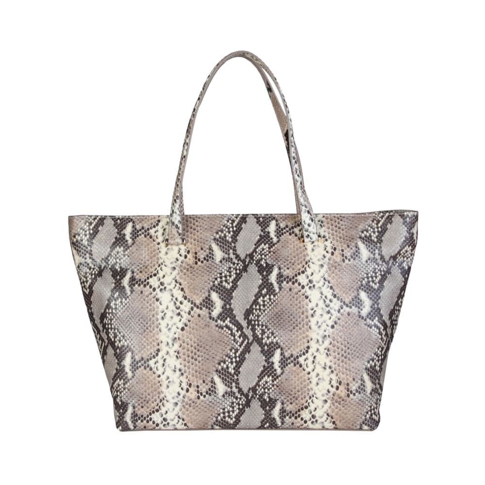 Cavalli Class - Grey/brown Tone Print Shopping Bag - Bags Shopping Bags
