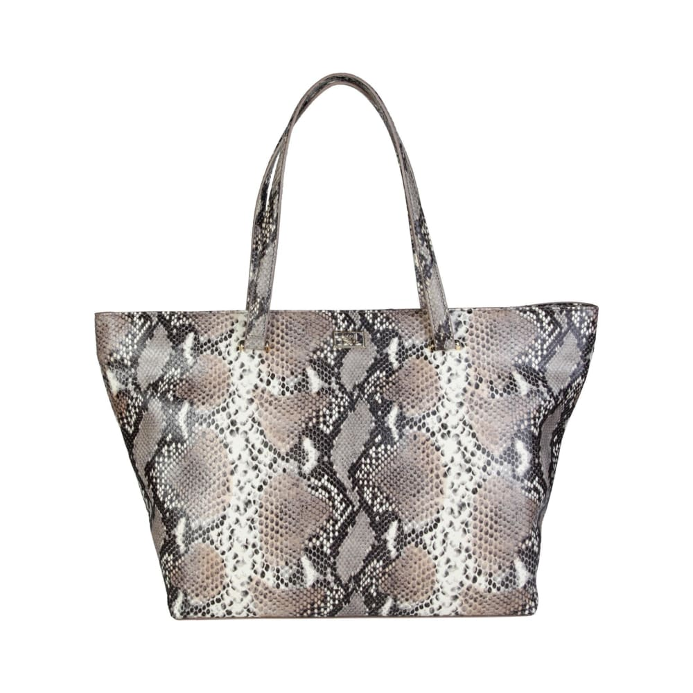 Cavalli Class - Grey/brown Tone Print Shopping Bag - Brown-1 / Nosize - Bags Shopping Bags