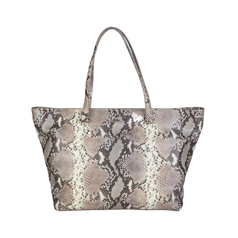 Cavalli Class - Grey/brown Tone Print Shopping Bag - Brown / Nosize - Bags Shopping Bags