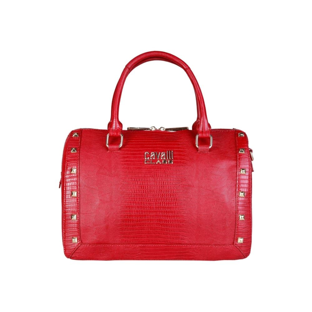 Cavalli Class - Stud Bag - Red / Nosize - Bags Handbags