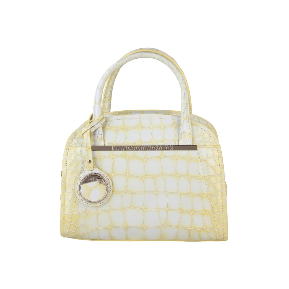 Cavalli Class - Yellow Croc Print Handbag - Yellow / Nosize - Bags Handbags