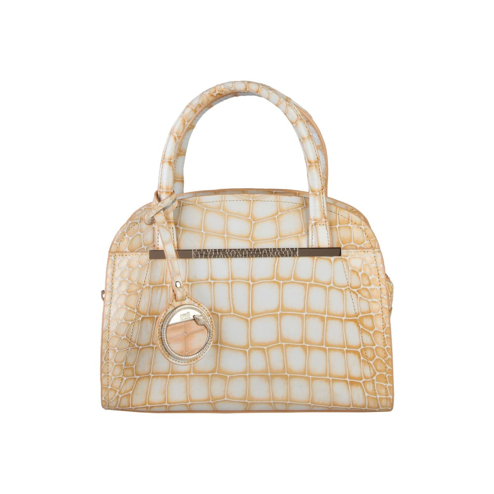 Cavalli Class - Yellow Croc Print Handbag - Orange / Nosize - Bags Handbags