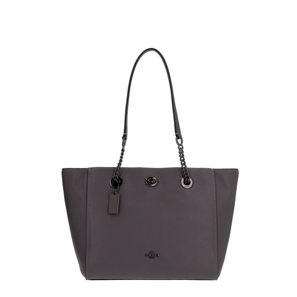 Coach - St Johns Wood Leather Shopping Bag - Grey / Nosize - Bags Shopping Bags
