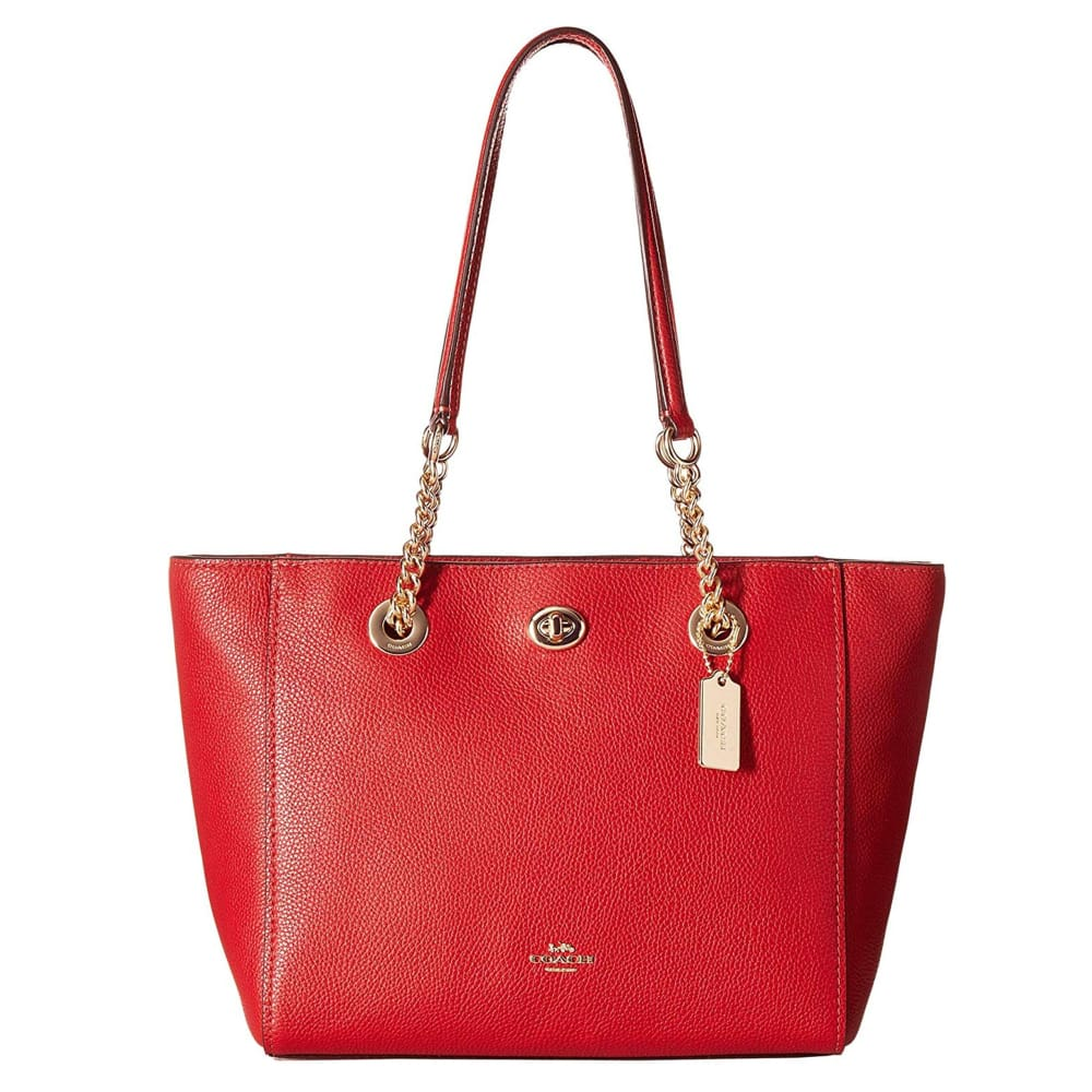 Coach - St Johns Wood Leather Shopping Bag - Red / Nosize - Bags Shopping Bags