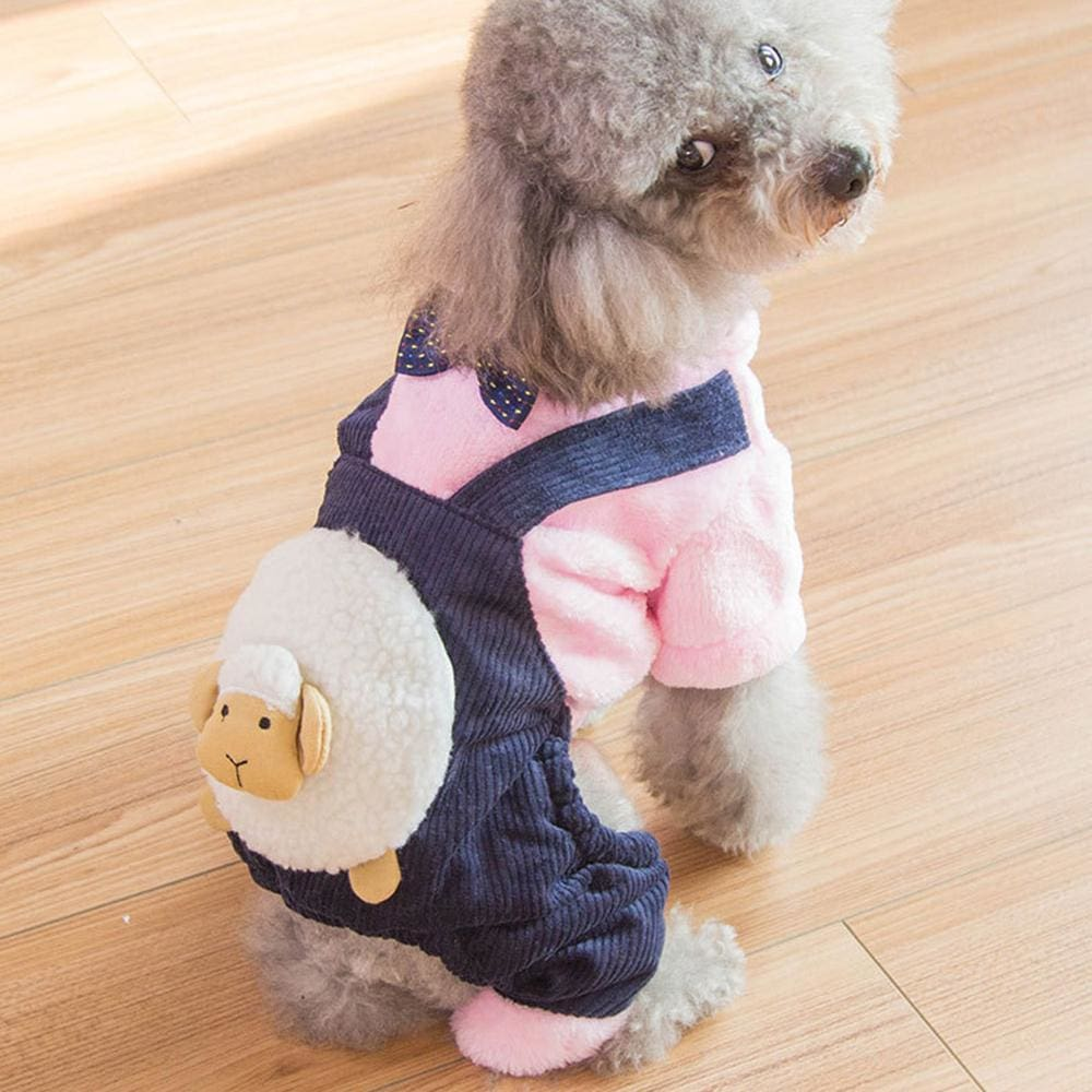Dapper Joe Dog Dungaree Costume - Navy / Xs ( Chest 30Cm ) - Dog Clothes