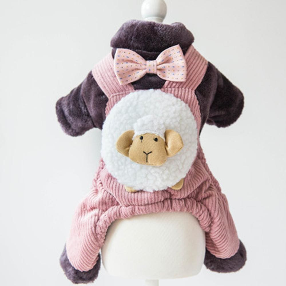 Dapper Joe Dog Dungaree Costume - Pink / Xs ( Chest 30Cm ) - Dog Clothes