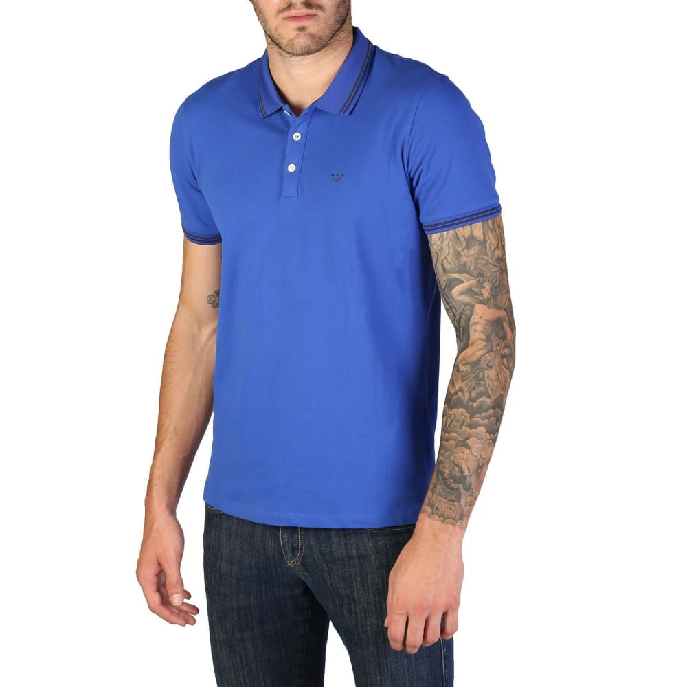 Emporio Armani - 8N1F2B - Clothing Polo - Blue-1 / S - Clothing Polo