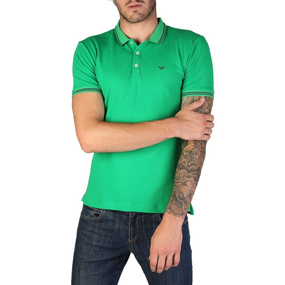 Emporio Armani - 8N1F30 - Clothing Polo - Green / S - Clothing Polo