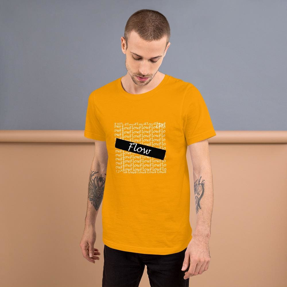 Flow Design Short-Sleeve Unisex T-Shirt - Gold / S - Tshirt