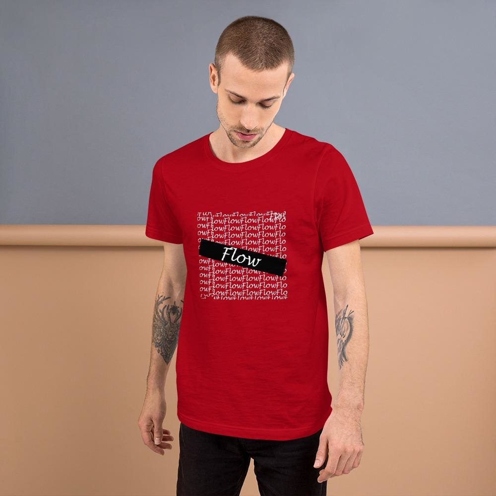 Flow Design Short-Sleeve Unisex T-Shirt - Red / S - Tshirt