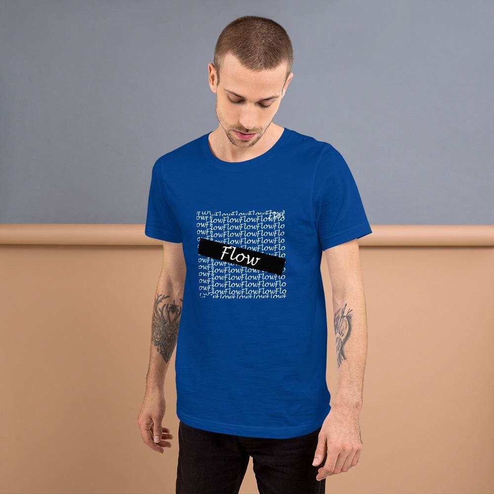 Flow Design Short-Sleeve Unisex T-Shirt - True Royal / S - Tshirt