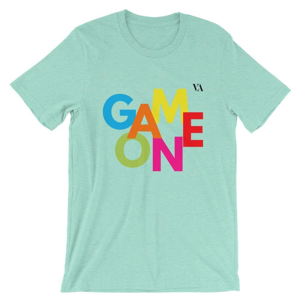 Game On Print Short-Sleeve Unisex Tee - Heather Mint / S - Tshirt