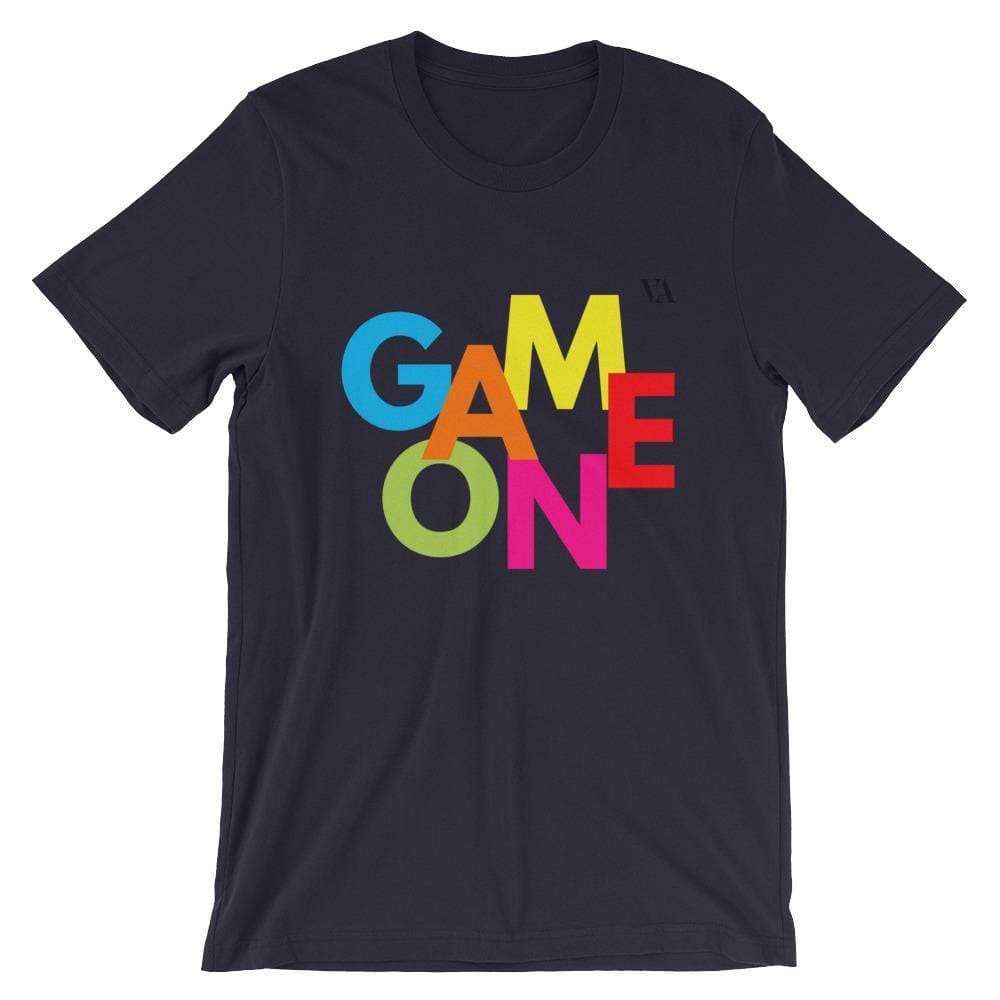 Game On Print Short-Sleeve Unisex Tee - Navy / S - Tshirt