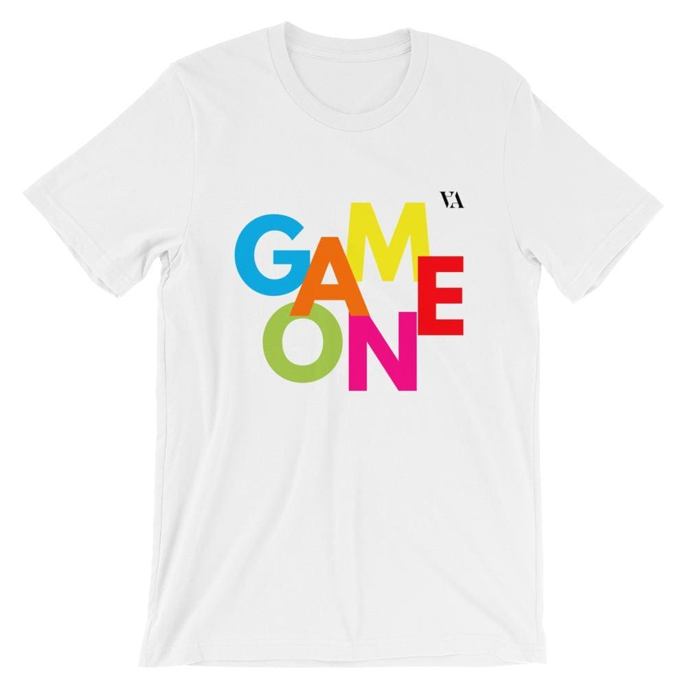 Game On Print Short-Sleeve Unisex Tee - White / S - Tshirt