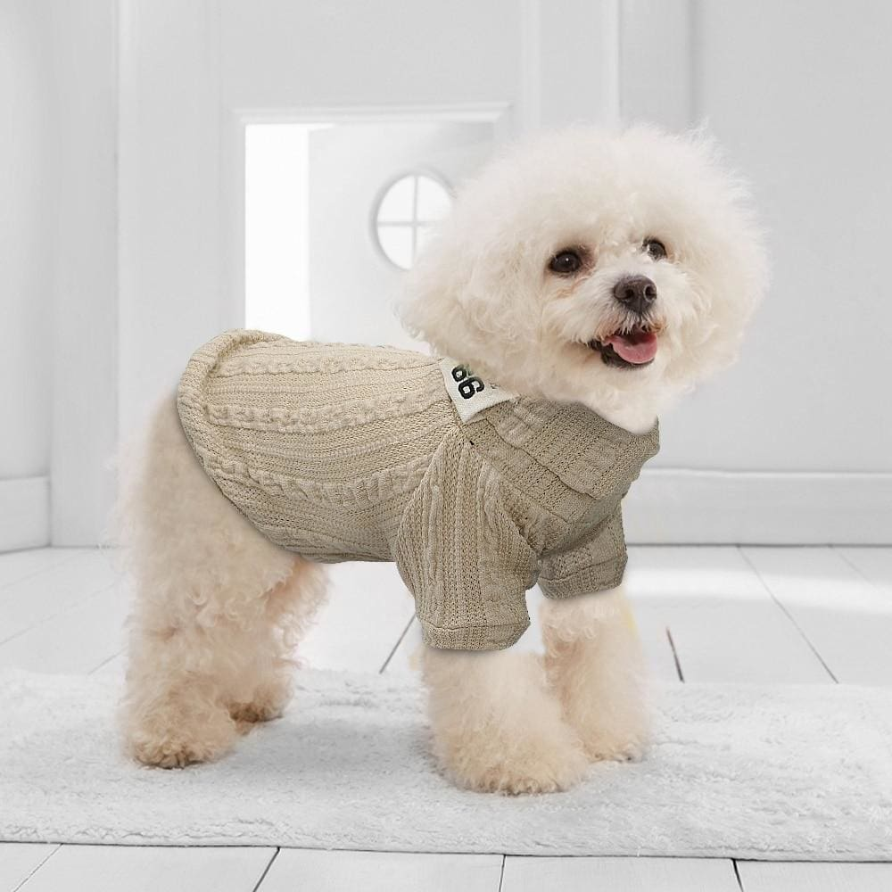 Gizmo Classic Knit Small Dog Sweater - Dog Clothes