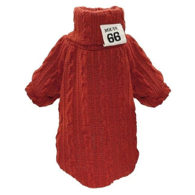 Gizmo Classic Knit Small Dog Sweater - Red / L - Dog Clothes