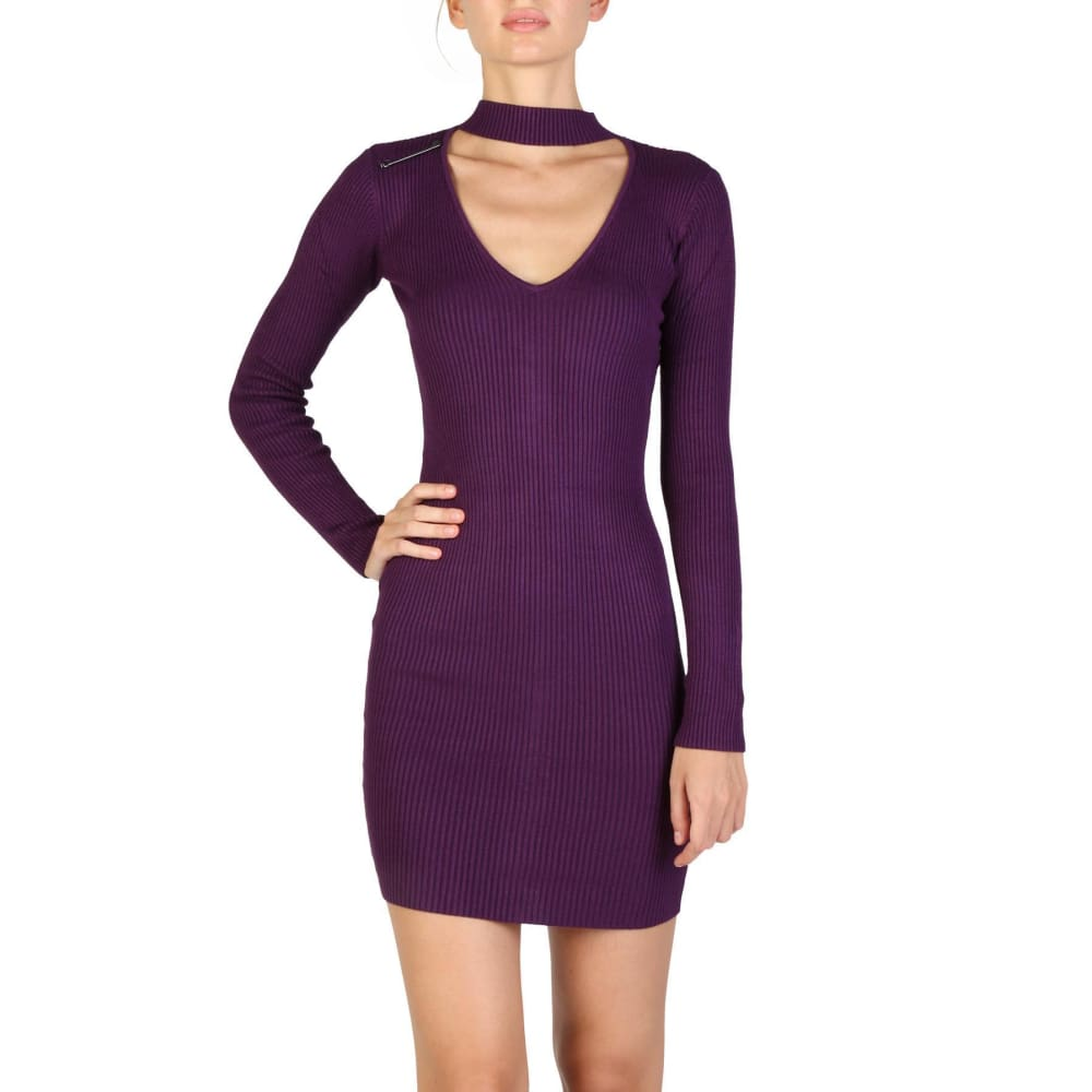 Guess - W73K05R0Sm0 - Clothing Dresses - Violet / Xs - Clothing Dresses