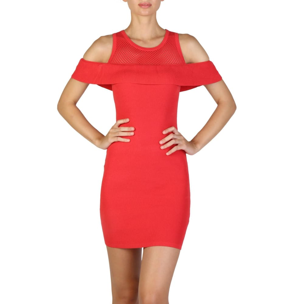 Guess - W73K64Z1L90 - Clothing Dresses - Red / Xs - Clothing Dresses