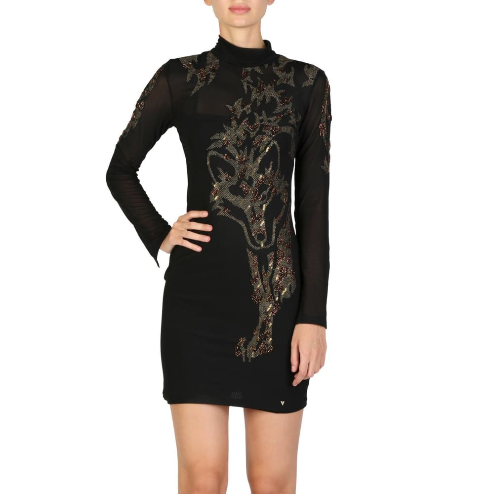Guess - W74K36Wagk0 - Clothing Dresses - Black / Xs - Clothing Dresses