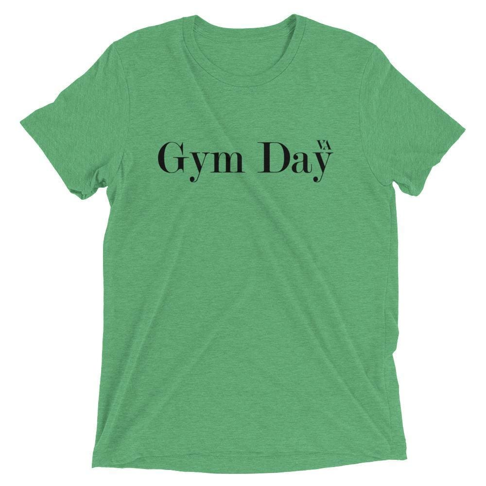 Gym Day Short Sleeve T-Shirt - Green Triblend / Xs