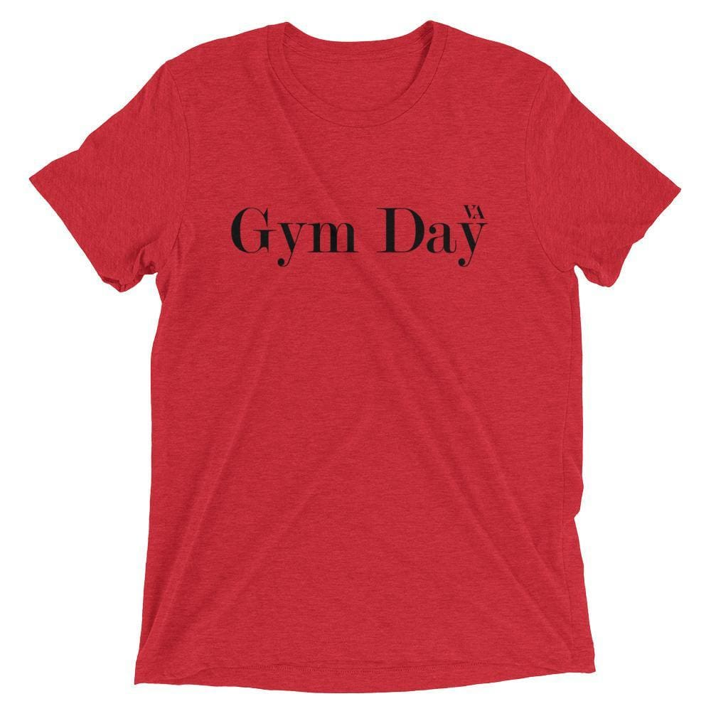 Gym Day Short Sleeve T-Shirt - Red Triblend / Xs