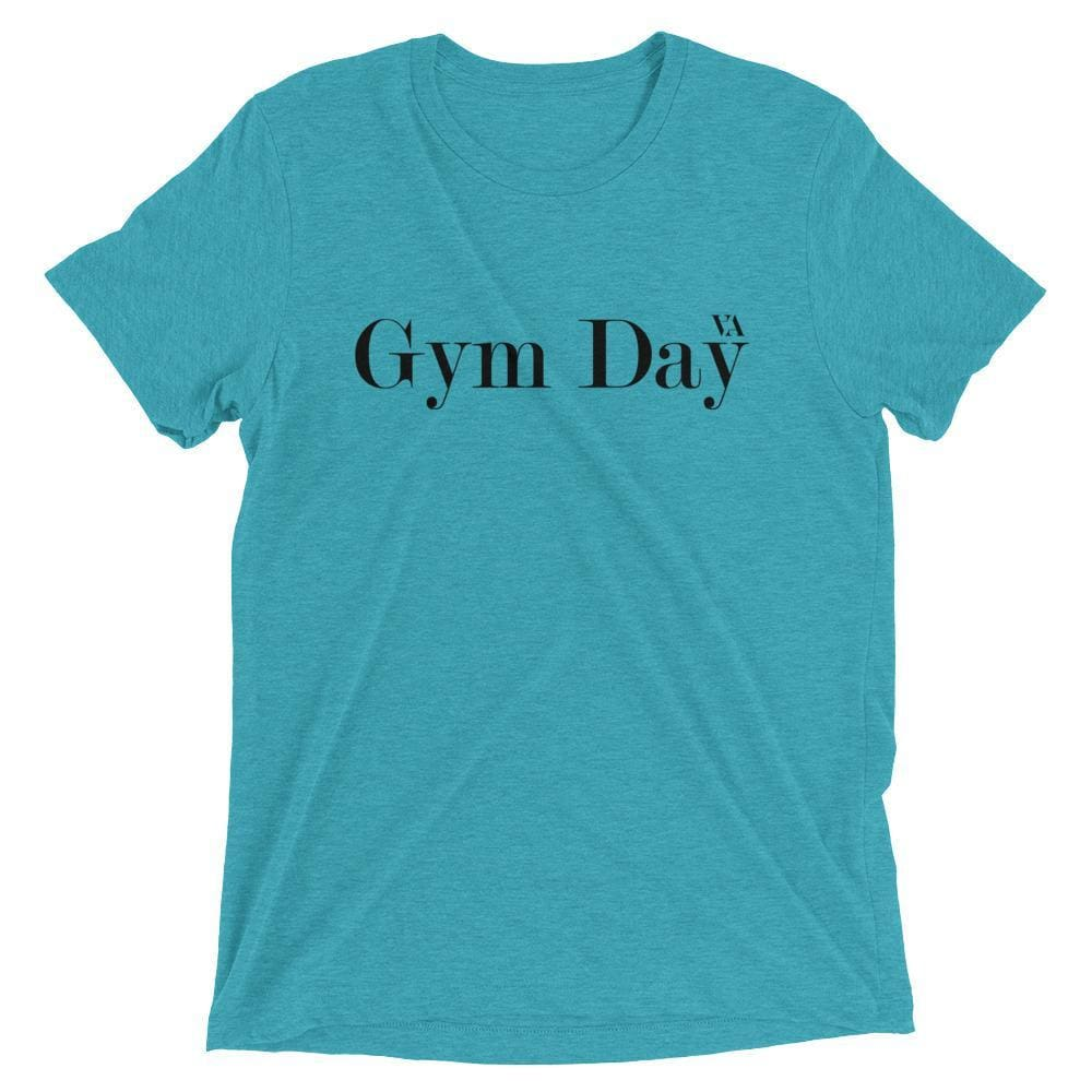 Gym Day Short Sleeve T-Shirt - Teal Triblend / Xs