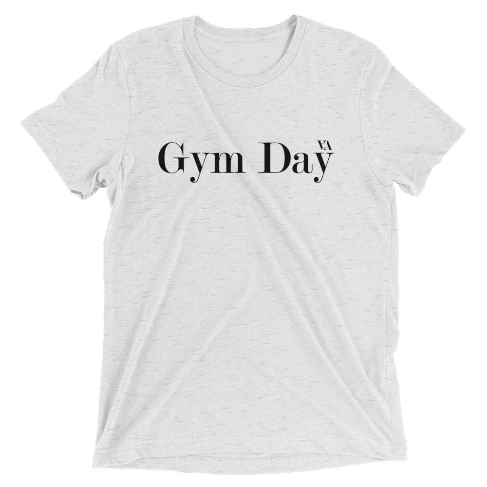 Gym Day Short Sleeve T-Shirt - White Fleck Triblend / Xs