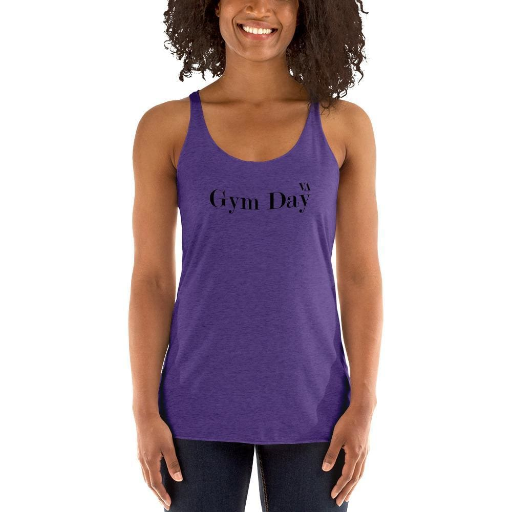 Gym Day Womens Racerback Tank - Purple Rush / Xs
