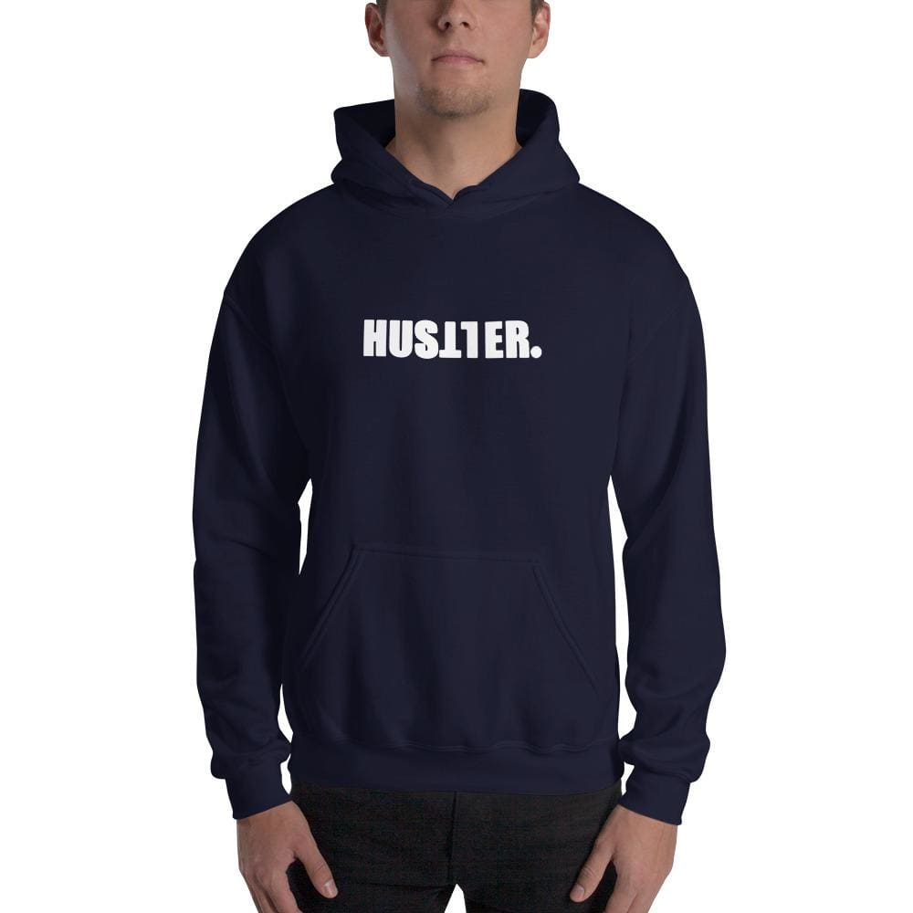 Hustler Hooded Sweatshirt - Navy / S - Sweater