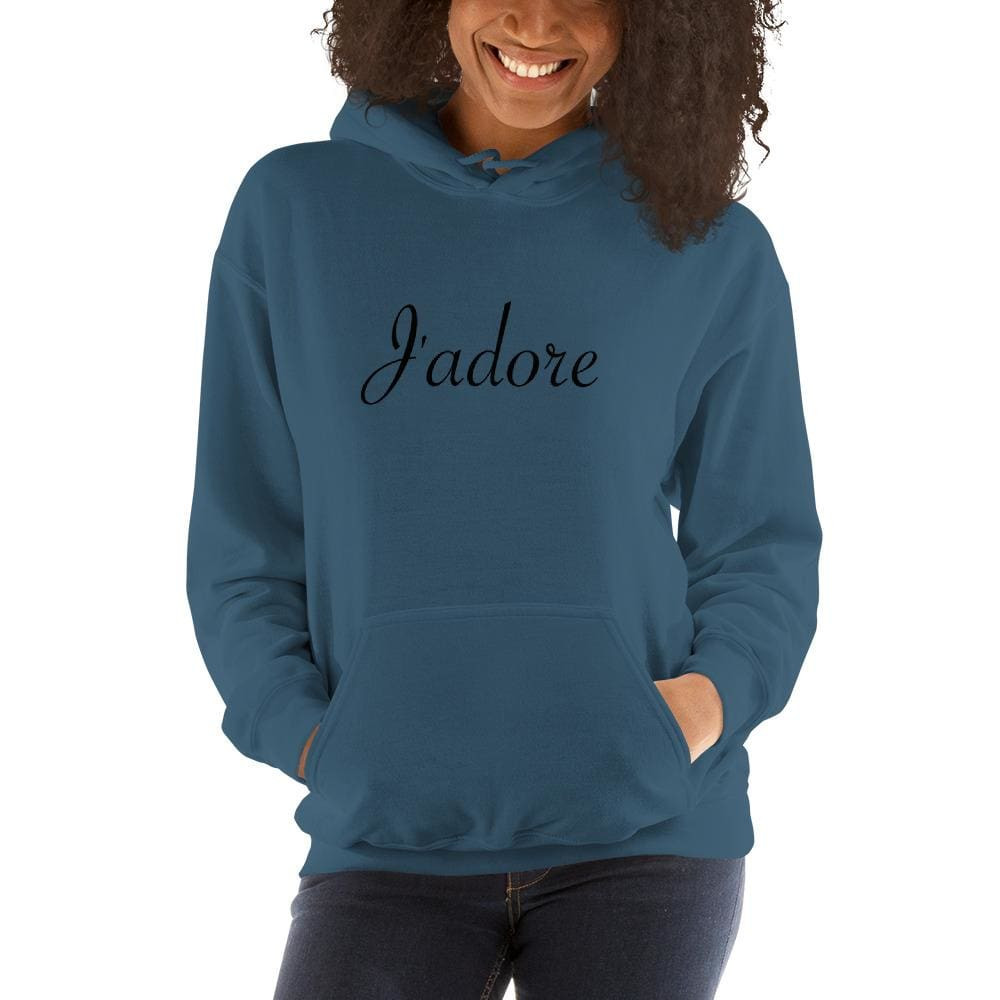Jadore Must-Have Hooded Sweatshirt - Indigo Blue / S - Hoodie