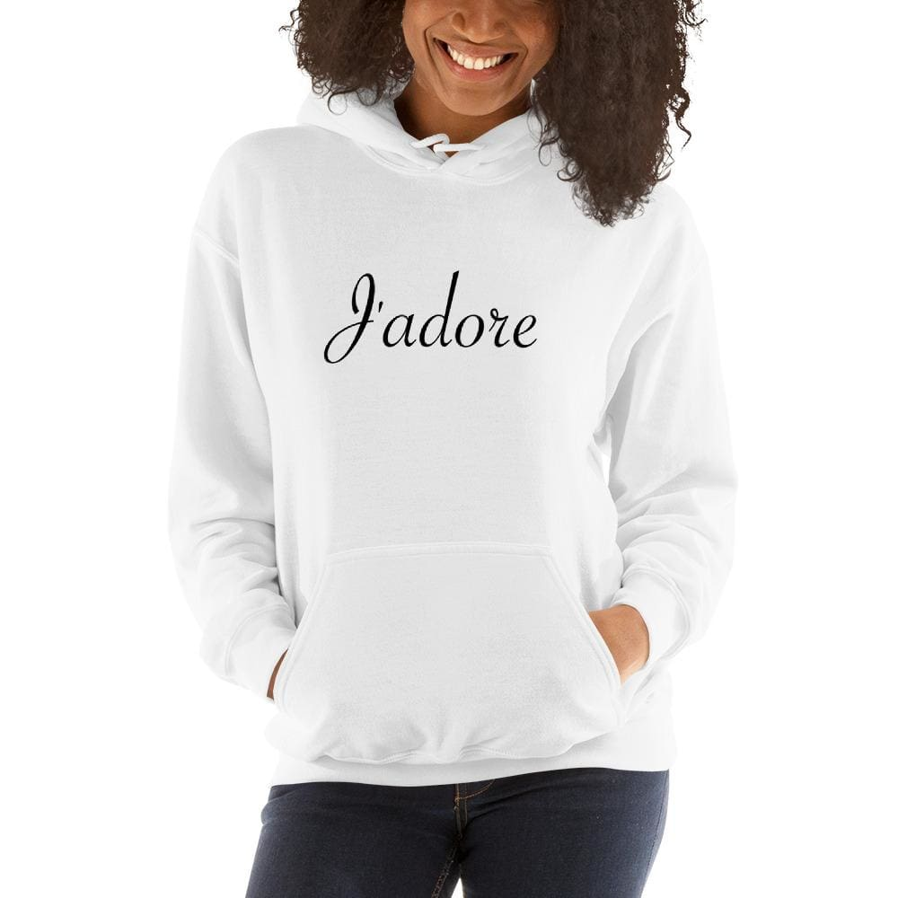 Jadore Must-Have Hooded Sweatshirt - White / S - Hoodie