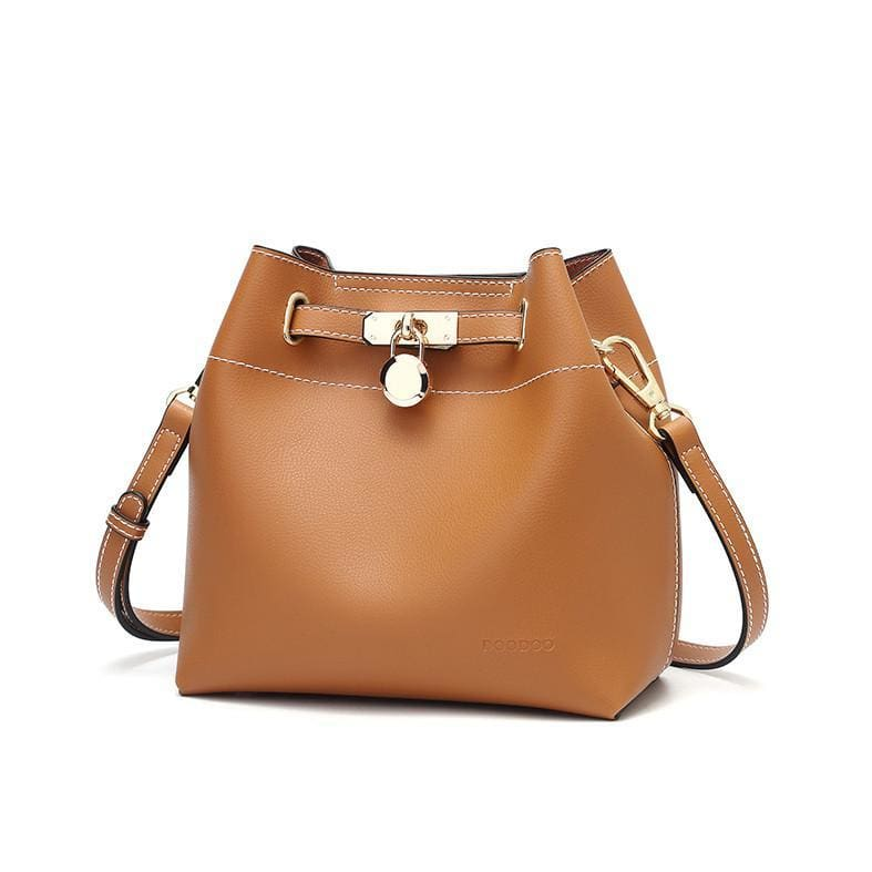 Kelly Grace Fashion Bucket Bag - Caramel - Hand Bags